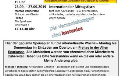 Interkulturelle Woche im EinLaden